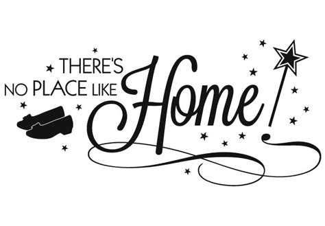 there is no place like home magical wall decal quote