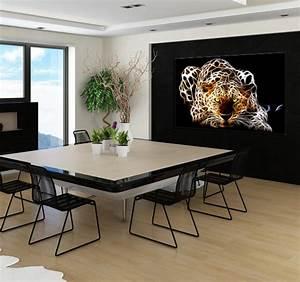 Tableau Salon Design : tableaux animaux ghost tiger ~ Teatrodelosmanantiales.com Idées de Décoration