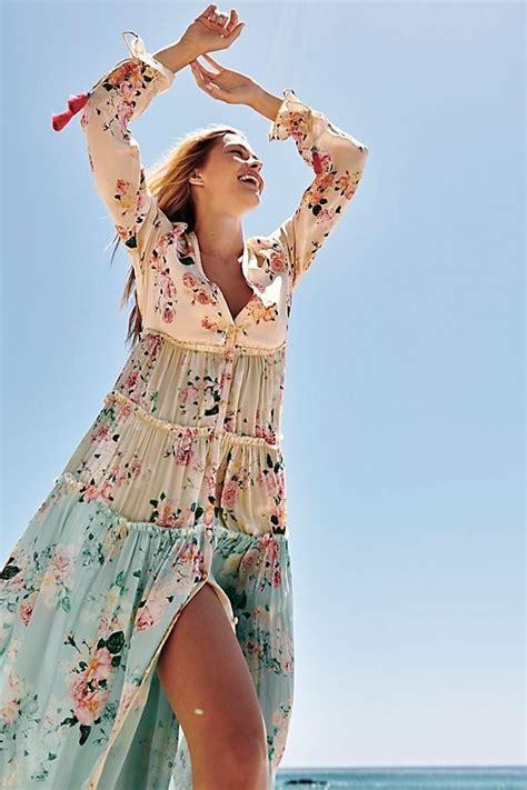 mixed floral maxi dress dress  impress floral maxi