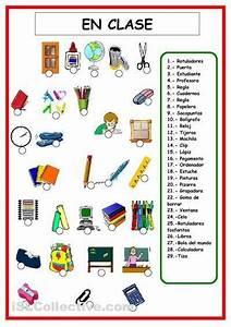 Vocabulario Objetos De Clase Espa U00d1ol