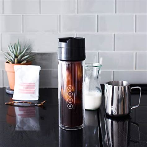 The soma ceramic mug's simple, beautiful design holds 12 oz of your favorite hot beverage. SOMA Double Wall Glass Tea and Coffee Cold Brew Bottle ...