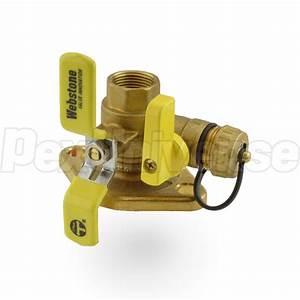 Webstone 41413  3  4 U0026quot  Fpt Isolator Flange Valve W   Drain