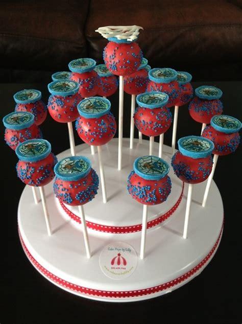 cake pops spiderman cake pops    year  boys