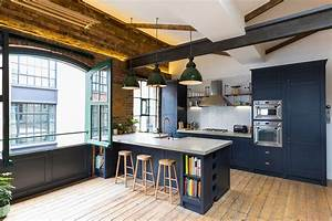 industrial style penthouse in shoreditch