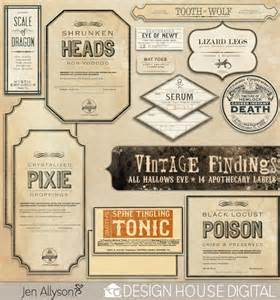 Free Printable Halloween Apothecary Labels