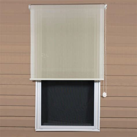 coolaroo sesame exterior roller shade 48 in w x 72 in
