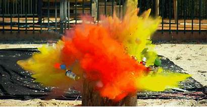 Paint Rainbow Cans Spray Anvil Dropping Blowing