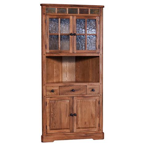 rustic corner china cabinet sunny designs sedona corner china cabinet in rustic oak ebay