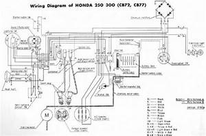 Honda Cb72 Cb77 Wiring Diagram Two Cylinder Motorcycle  59112