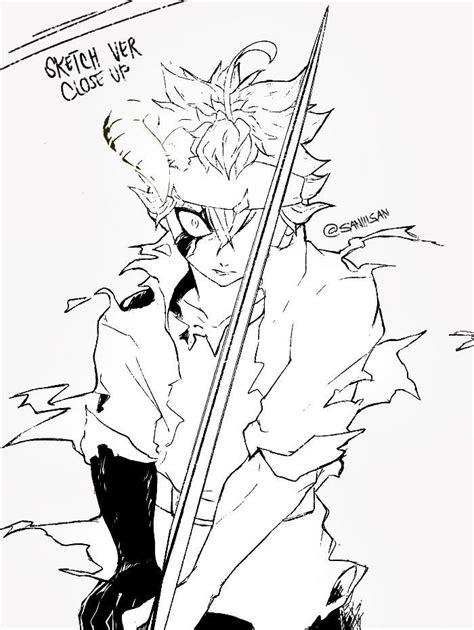 asta  black clover black clover anime black clover manga drawings