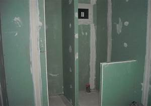 Produit Hydrofuge Pour Placo : fourniture et pose de cloison hydrofuge pour salle de bain ~ Nature-et-papiers.com Idées de Décoration