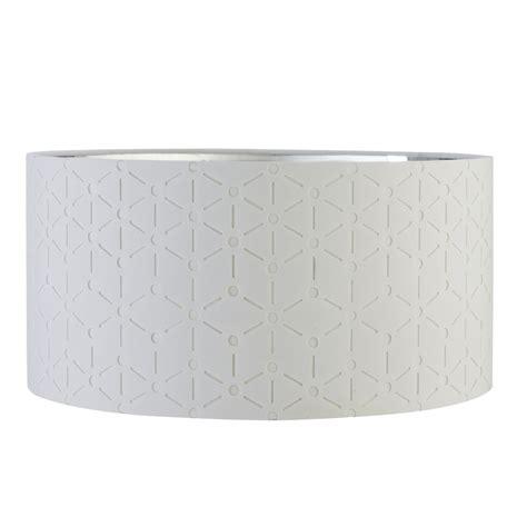 verve geo laser cut drum l shade white silver