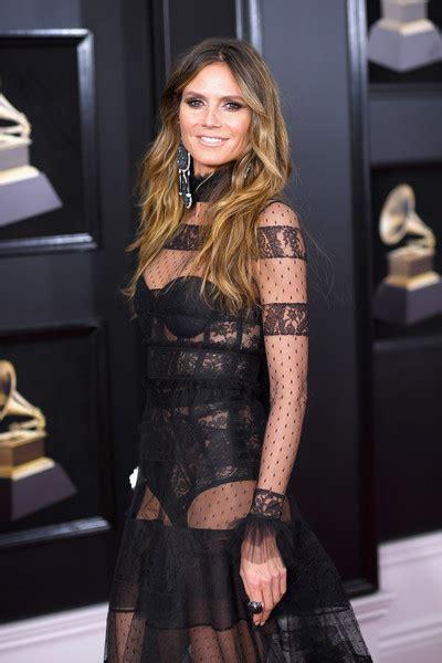 Heidi Klum Photos Annual Grammy Awards Red