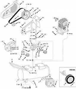 Campbell Hausfeld Vt610408 Parts Diagram For Pump Parts