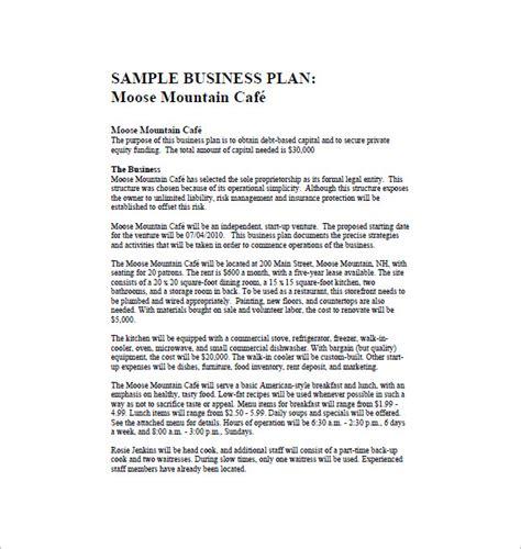 restaurant business plan template restaurant business plan template 14 free word excel pdf format free premium