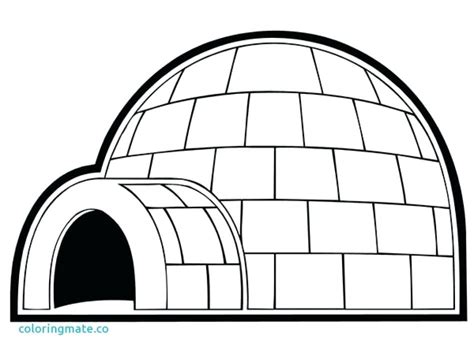 Igloo Coloring Page At Getcolorings.com