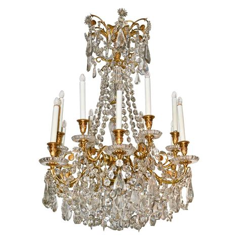 19th century signed baccarat chandelier for sale at