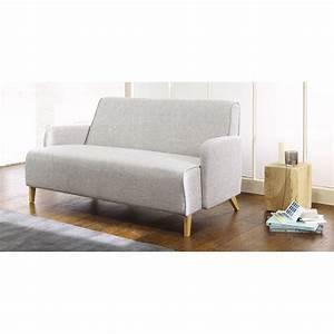 Sofas Maison Du Monde : 2 seater fabric sofa in light grey adam maisons du monde ~ Watch28wear.com Haus und Dekorationen