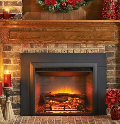 convert a gas or wood fireplace to an electric fireplace