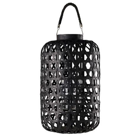 lanterne en tressage noir kumasilanterne dexterieur noir xxcm maisons du monde