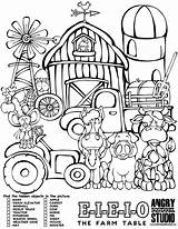 Hidden Farm Objects Coloring Pages Animal Table Animals Elevator Activity Pdf Colouring Printable Barn Books Easy Tree Kid Downloads Christmas sketch template