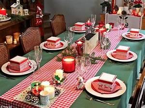 Table De Noel Traditionnelle : d coration de table de no l nos id es pour une centre de ~ Melissatoandfro.com Idées de Décoration