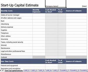 5 capital expenditure budget template excel template124 With start up capital template