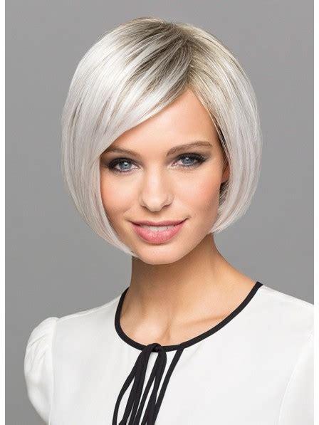 white short chic bob wigs  side bangs