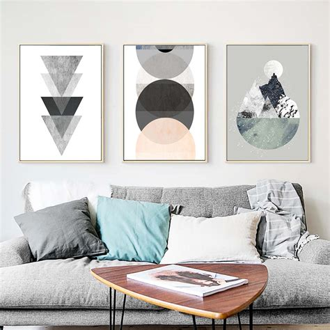 simple geometric quote canvas painting nordic poster wall