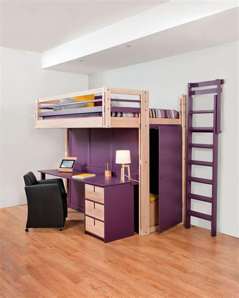 bureau lit mezzanine beds attic mezzanine