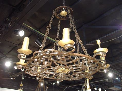 cast iron antique chandelier from