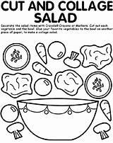 Coloring Crayola Cut Salad Collage sketch template