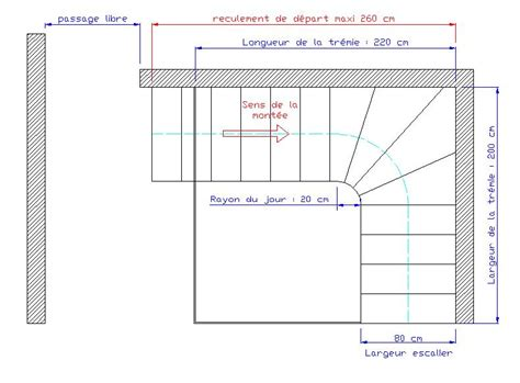 calcul d un escalier quart tournant dimensions d un escalier