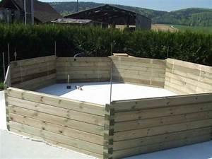 construire une piscine hors sol en bois piscine hors sol With fabriquer sa piscine en bois