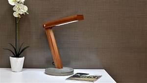 Diy, Led, Desk, Lamp, With, Concrete, Base