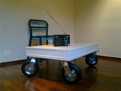 coffee table  wheels design images  pictures