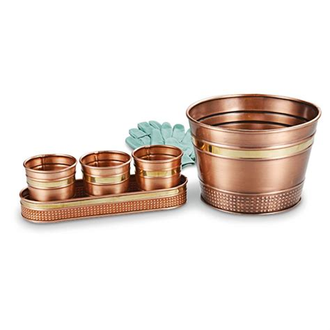 copper planters 2 pk of 3 in 1 copper planters 591267 planters at sportsman s guide