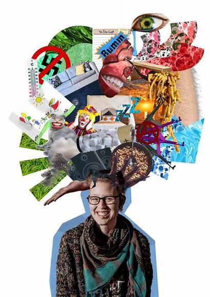 Collage Kopf Ich Mich Das Madita Fsg