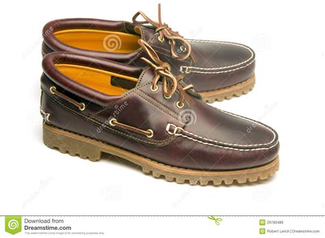 Casual Rugged Moccasin Style Men's Leather Shoes Stock