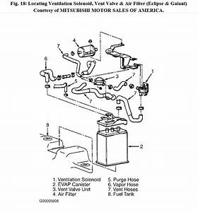 2003 Mitsubishi Eclipse Intake Parts Diagram