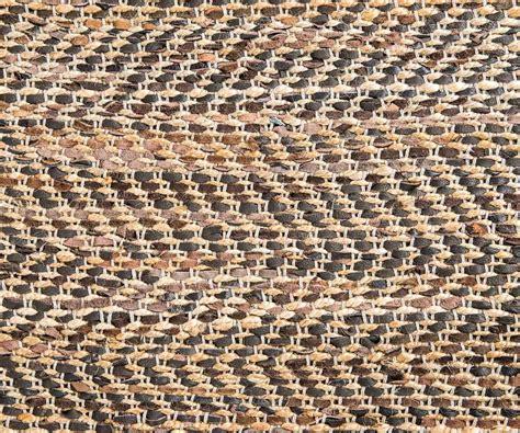 tappeto in pelle tappeto in juta e pelle marrone 200 x 300 cm duzzle