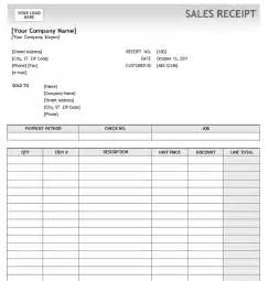 Sales Receipt Template #5