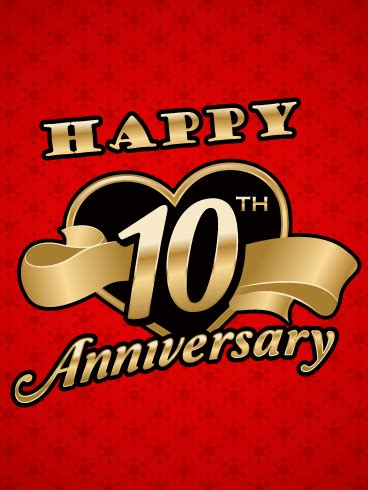 tenth anniversary happy 10th anniversary card birthday greeting cards by davia