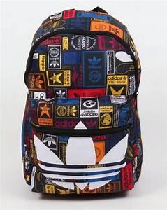 Adidas Originals Label Backpack Multi Bag Shoulder Holdall