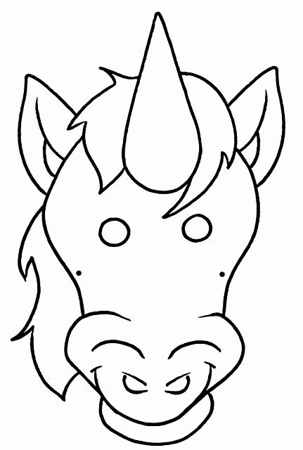 immagini unicorno da disegnare per bambini maschera da unicorno da colorare per bambini per carnevale