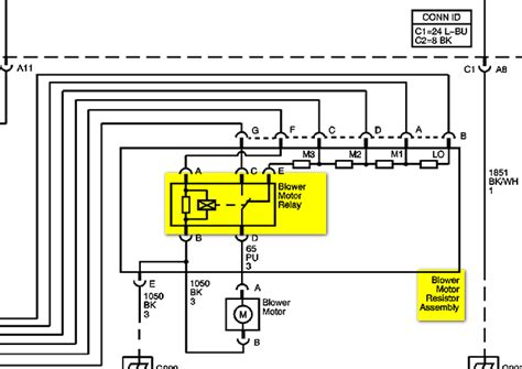 2006 Silverado Heater Wiring by Where Is The Blower Motor Relay On An 06 Chevy Silverado