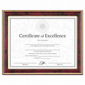 gold trimmed document frame w certificate wood 8 1 2 x With mahogany document frame