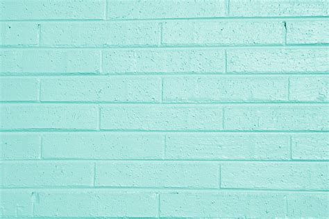 aqua green painted brick wall texture picture free
