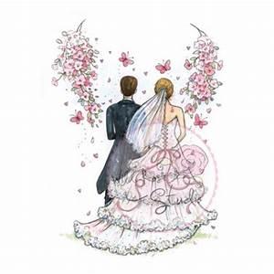 Dessin Couple Mariage Noir Et Blanc : tampon dessin wild rose studio couple de mari mariage ~ Melissatoandfro.com Idées de Décoration