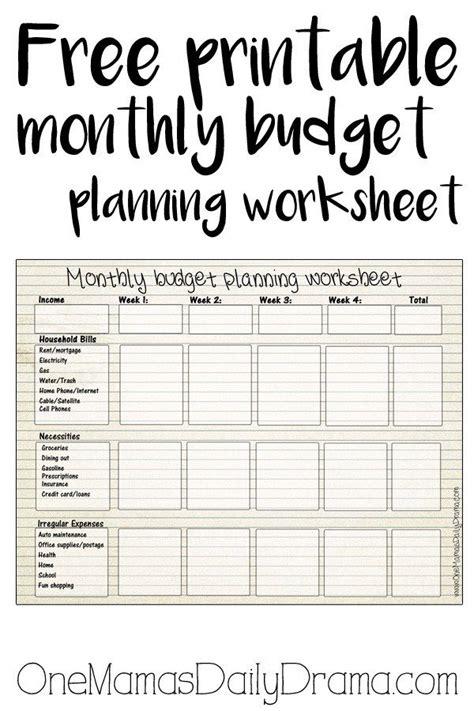 printable monthly budget worksheet frugal living money